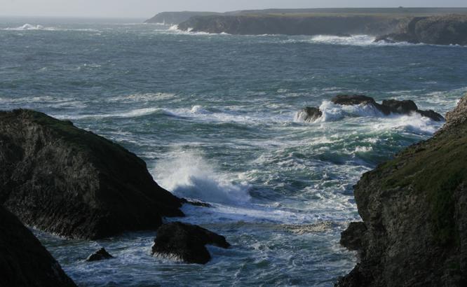 Bord de mer sur les côtes Bretonnes