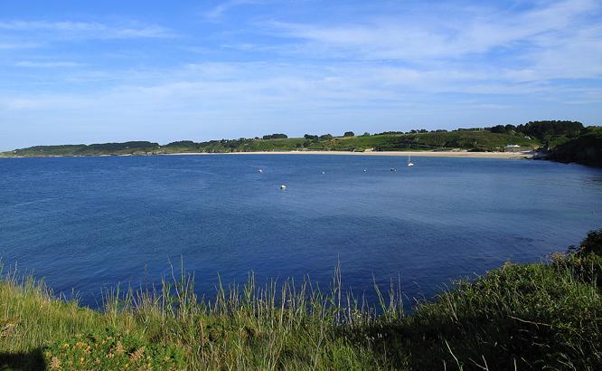 Vue sur la mer de Belle Ile dans le Morbihan
