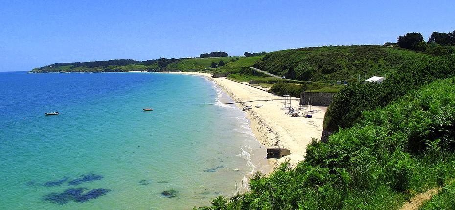 La plage des grands sables à Belle Ile Morbihan