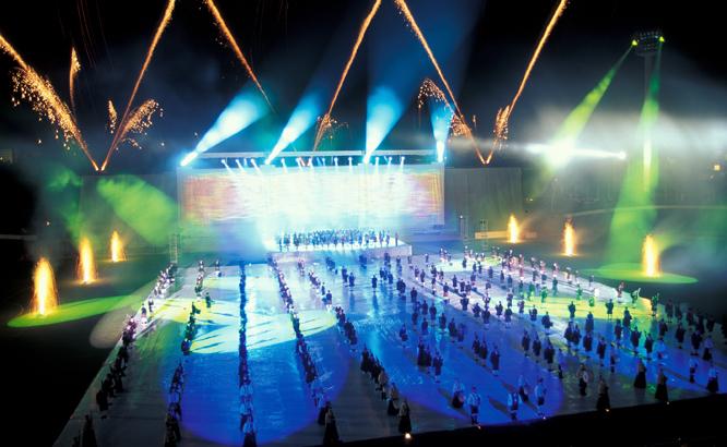 Festival Interceltique de lorient, le spectacle son et lumiere